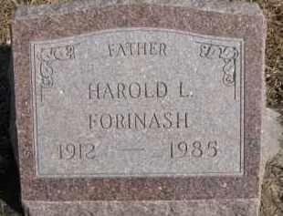 FORINASH, HAROLD L. - Dixon County, Nebraska   HAROLD L. FORINASH - Nebraska Gravestone Photos