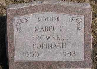 BROWNELL FORINASH, MABEL C. - Dixon County, Nebraska | MABEL C. BROWNELL FORINASH - Nebraska Gravestone Photos