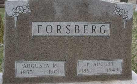 FORSBERG, P. AUGUST - Dixon County, Nebraska | P. AUGUST FORSBERG - Nebraska Gravestone Photos