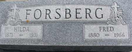 FORSBERG, FRED - Dixon County, Nebraska | FRED FORSBERG - Nebraska Gravestone Photos