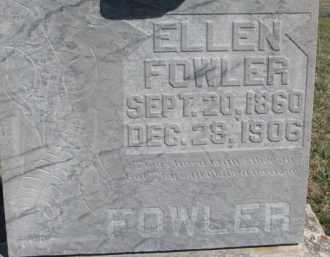FOWLER, ELLEN - Dixon County, Nebraska   ELLEN FOWLER - Nebraska Gravestone Photos