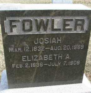 FOWLER, ELIZABETH A. - Dixon County, Nebraska   ELIZABETH A. FOWLER - Nebraska Gravestone Photos