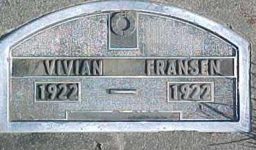 FRANSEN, VIVIAN - Dixon County, Nebraska | VIVIAN FRANSEN - Nebraska Gravestone Photos
