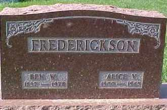 HENRY FREDERICKSON, ALICE V. - Dixon County, Nebraska | ALICE V. HENRY FREDERICKSON - Nebraska Gravestone Photos