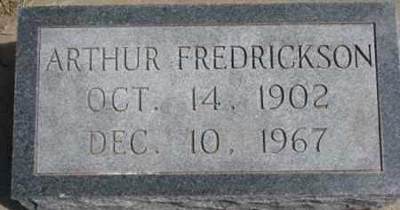 FREDRICKSON, ARTHUR - Dixon County, Nebraska | ARTHUR FREDRICKSON - Nebraska Gravestone Photos