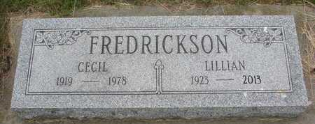 FREDRICKSON, LILLIAN - Dixon County, Nebraska   LILLIAN FREDRICKSON - Nebraska Gravestone Photos