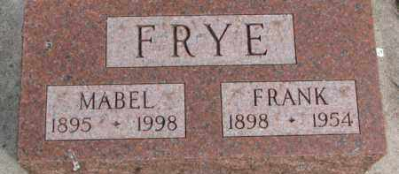 FRYE, MABEL - Dixon County, Nebraska | MABEL FRYE - Nebraska Gravestone Photos