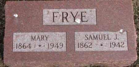 FRYE, SAMUEL J. - Dixon County, Nebraska | SAMUEL J. FRYE - Nebraska Gravestone Photos