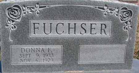 FUCHSER, DONNA F. - Dixon County, Nebraska   DONNA F. FUCHSER - Nebraska Gravestone Photos