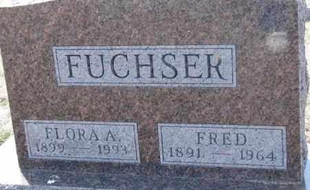 FUCHSER, FLORA A. - Dixon County, Nebraska | FLORA A. FUCHSER - Nebraska Gravestone Photos