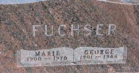 FUCHSER, MARIE - Dixon County, Nebraska | MARIE FUCHSER - Nebraska Gravestone Photos