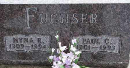 FUCHSER, NYNA R. - Dixon County, Nebraska | NYNA R. FUCHSER - Nebraska Gravestone Photos