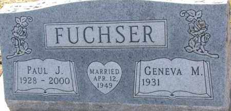 FUCHSER, PAUL J. - Dixon County, Nebraska | PAUL J. FUCHSER - Nebraska Gravestone Photos