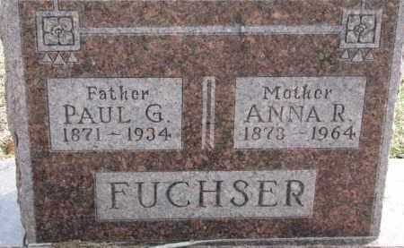 FUCHSER, PAUL G. - Dixon County, Nebraska | PAUL G. FUCHSER - Nebraska Gravestone Photos