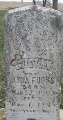 FUOSS, GUSTAV - Dixon County, Nebraska | GUSTAV FUOSS - Nebraska Gravestone Photos