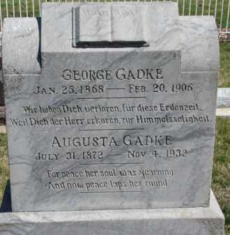 GADKE, AUGUSTA - Dixon County, Nebraska   AUGUSTA GADKE - Nebraska Gravestone Photos