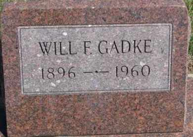 GADKE, WILL F. - Dixon County, Nebraska | WILL F. GADKE - Nebraska Gravestone Photos