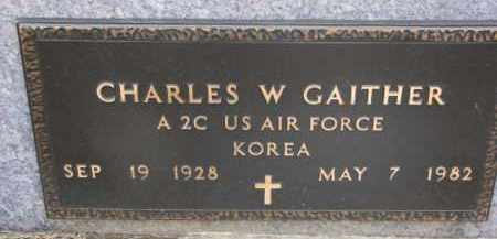 GAITHER, CHARLES W. (MILITARY MARKER) - Dixon County, Nebraska | CHARLES W. (MILITARY MARKER) GAITHER - Nebraska Gravestone Photos