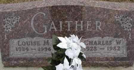 GAITHER, LOUISE M. - Dixon County, Nebraska | LOUISE M. GAITHER - Nebraska Gravestone Photos