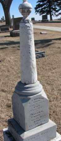 GARFIELD, J. - Dixon County, Nebraska   J. GARFIELD - Nebraska Gravestone Photos