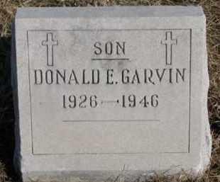 GARVIN, DONALD E. - Dixon County, Nebraska   DONALD E. GARVIN - Nebraska Gravestone Photos