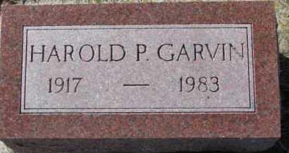 GARVIN, HAROLD P. - Dixon County, Nebraska | HAROLD P. GARVIN - Nebraska Gravestone Photos