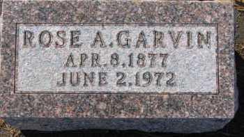 GARVIN, ROSE A. - Dixon County, Nebraska | ROSE A. GARVIN - Nebraska Gravestone Photos