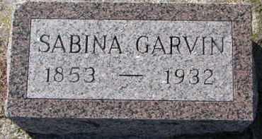 GARVIN, SABINA - Dixon County, Nebraska | SABINA GARVIN - Nebraska Gravestone Photos