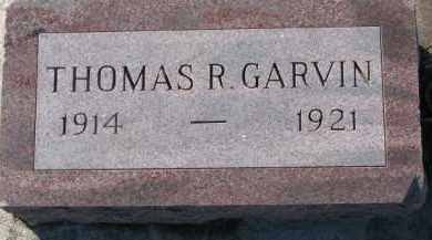 GARVIN, THOMAS R. - Dixon County, Nebraska | THOMAS R. GARVIN - Nebraska Gravestone Photos