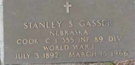 GASSER, STANLEY S.  (WW I MARKER) - Dixon County, Nebraska | STANLEY S.  (WW I MARKER) GASSER - Nebraska Gravestone Photos