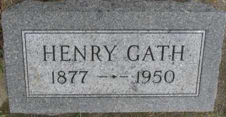 GATH, HENRY - Dixon County, Nebraska | HENRY GATH - Nebraska Gravestone Photos