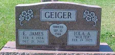 GEIGER, IOLA A. - Dixon County, Nebraska | IOLA A. GEIGER - Nebraska Gravestone Photos