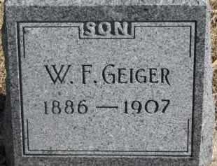 GEIGER, W.F. - Dixon County, Nebraska   W.F. GEIGER - Nebraska Gravestone Photos