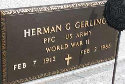 GERLING, HERMAN G. (WW II MARKER) - Dixon County, Nebraska   HERMAN G. (WW II MARKER) GERLING - Nebraska Gravestone Photos