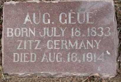GEUE, AUGUST - Dixon County, Nebraska | AUGUST GEUE - Nebraska Gravestone Photos