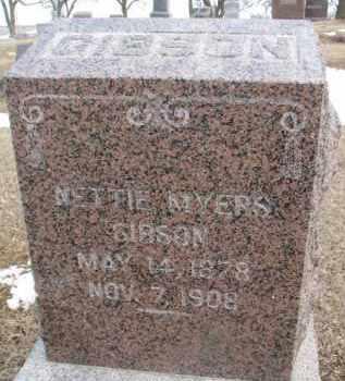 MYERS GIBSON, NETTIE - Dixon County, Nebraska | NETTIE MYERS GIBSON - Nebraska Gravestone Photos
