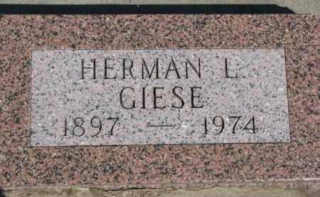 GIESE, HERMAN L. - Dixon County, Nebraska | HERMAN L. GIESE - Nebraska Gravestone Photos