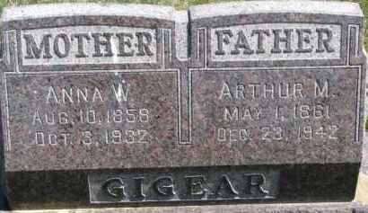 GIGEAR, ARTHUR M. - Dixon County, Nebraska | ARTHUR M. GIGEAR - Nebraska Gravestone Photos