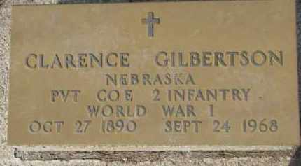 GILBERTSON, CLARENCE (WW I MARKER) - Dixon County, Nebraska | CLARENCE (WW I MARKER) GILBERTSON - Nebraska Gravestone Photos
