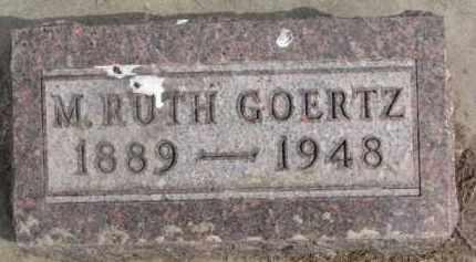 GOERTZ, M. RUTH - Dixon County, Nebraska | M. RUTH GOERTZ - Nebraska Gravestone Photos