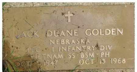 GOLDEN, JACK DUANE (MILITARY MARKER) - Dixon County, Nebraska   JACK DUANE (MILITARY MARKER) GOLDEN - Nebraska Gravestone Photos
