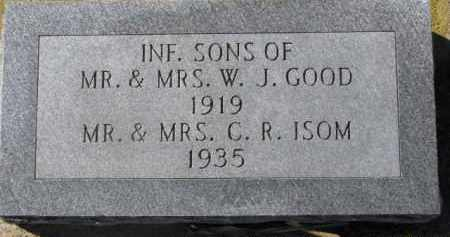 ISOM, INFANT MR. & MRS. C.R. - Dixon County, Nebraska | INFANT MR. & MRS. C.R. ISOM - Nebraska Gravestone Photos