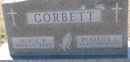 GORBETT, BEATRICE L. - Dixon County, Nebraska | BEATRICE L. GORBETT - Nebraska Gravestone Photos