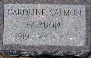 SALMON GORDON, CAROLINE - Dixon County, Nebraska | CAROLINE SALMON GORDON - Nebraska Gravestone Photos
