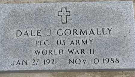 GORMALLY, DALE J. (WW II MARKER) - Dixon County, Nebraska | DALE J. (WW II MARKER) GORMALLY - Nebraska Gravestone Photos
