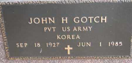 GOTCH, JOHN H. (MILITARY MARKER) - Dixon County, Nebraska | JOHN H. (MILITARY MARKER) GOTCH - Nebraska Gravestone Photos
