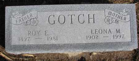 GOTCH, ROY E. - Dixon County, Nebraska | ROY E. GOTCH - Nebraska Gravestone Photos