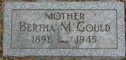 GOULD, BERTHA M. - Dixon County, Nebraska   BERTHA M. GOULD - Nebraska Gravestone Photos