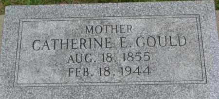 GOULD, CATHERINE E. - Dixon County, Nebraska | CATHERINE E. GOULD - Nebraska Gravestone Photos