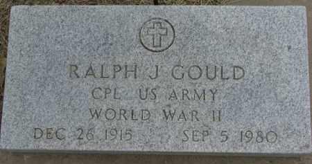 GOULD, RALPH J. - Dixon County, Nebraska | RALPH J. GOULD - Nebraska Gravestone Photos